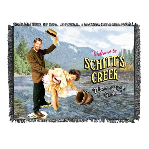 Schitt's Creek - Town Sign Woven Blanket Mock