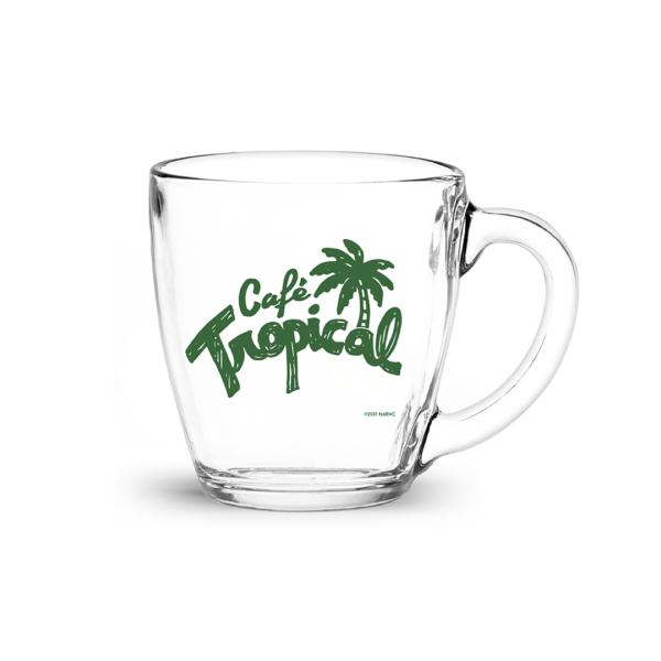 Café Tropical Retro Glass Mug