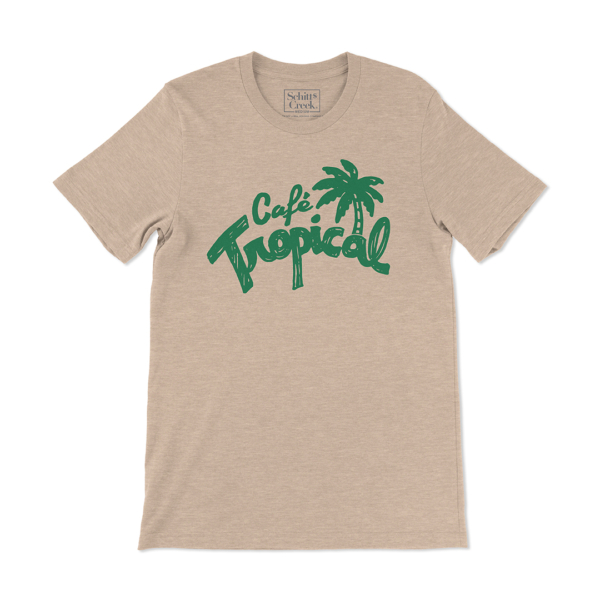 Café Tropical Retro Unisex Heather Sand Shirt